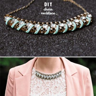 diy embellished necklaces