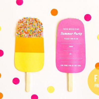 lolly party invite