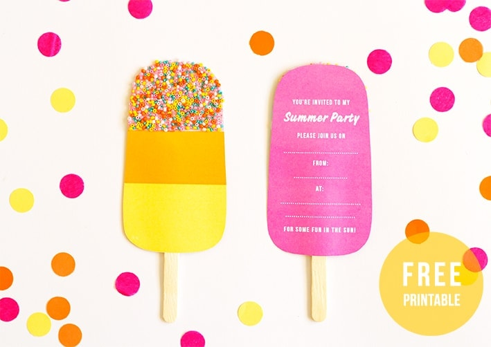 lolly party invite