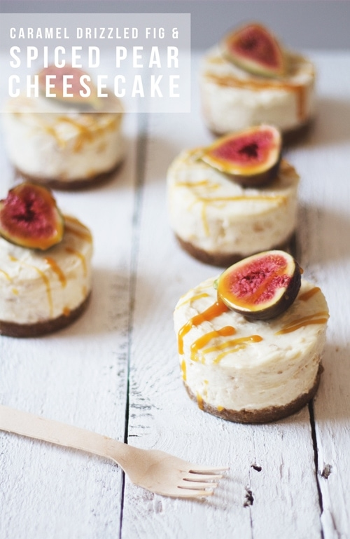 fig and pear cheescakes