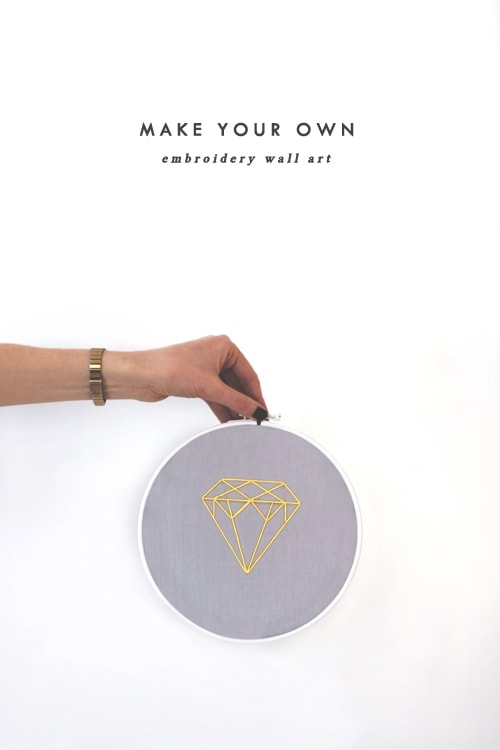 diy embroidery wall art 1