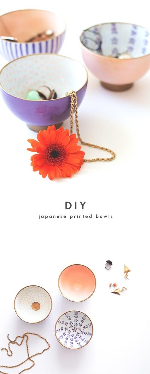 DIY japanese printed bowls 1
