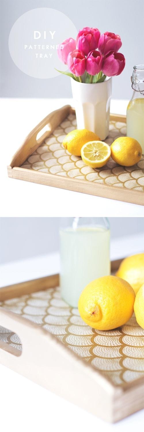 diy patterned tray 1