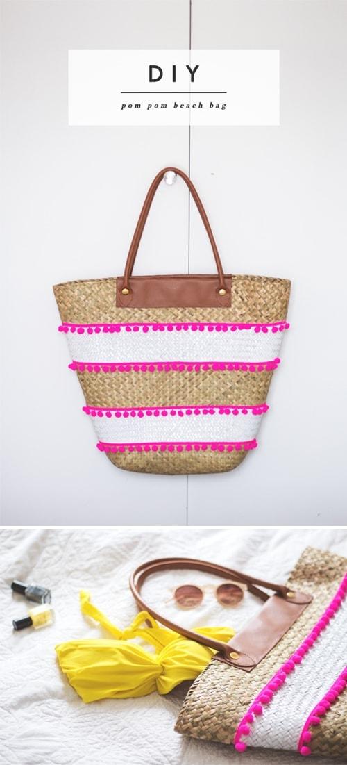 DIY pom pom bag 1