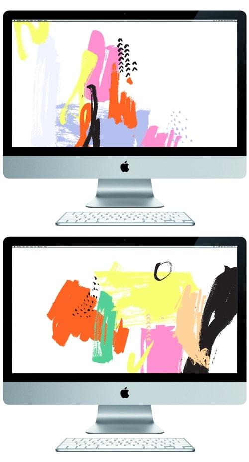 brush strokes desktop