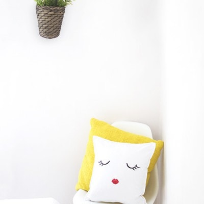 DIY little madam cushion