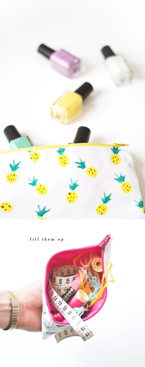 diy zipper purse 5