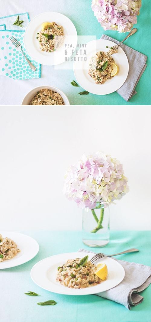 pea, mint & feta risotto