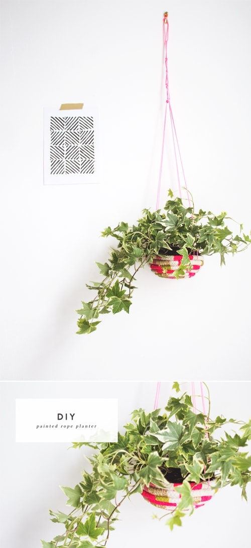 diy rope planter 1