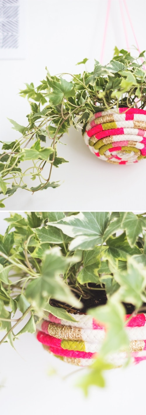 diy rope planter 2