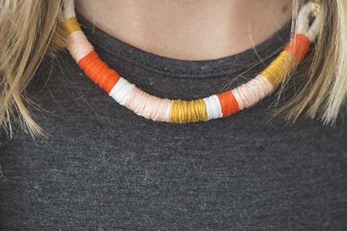 diy wrap necklace 5