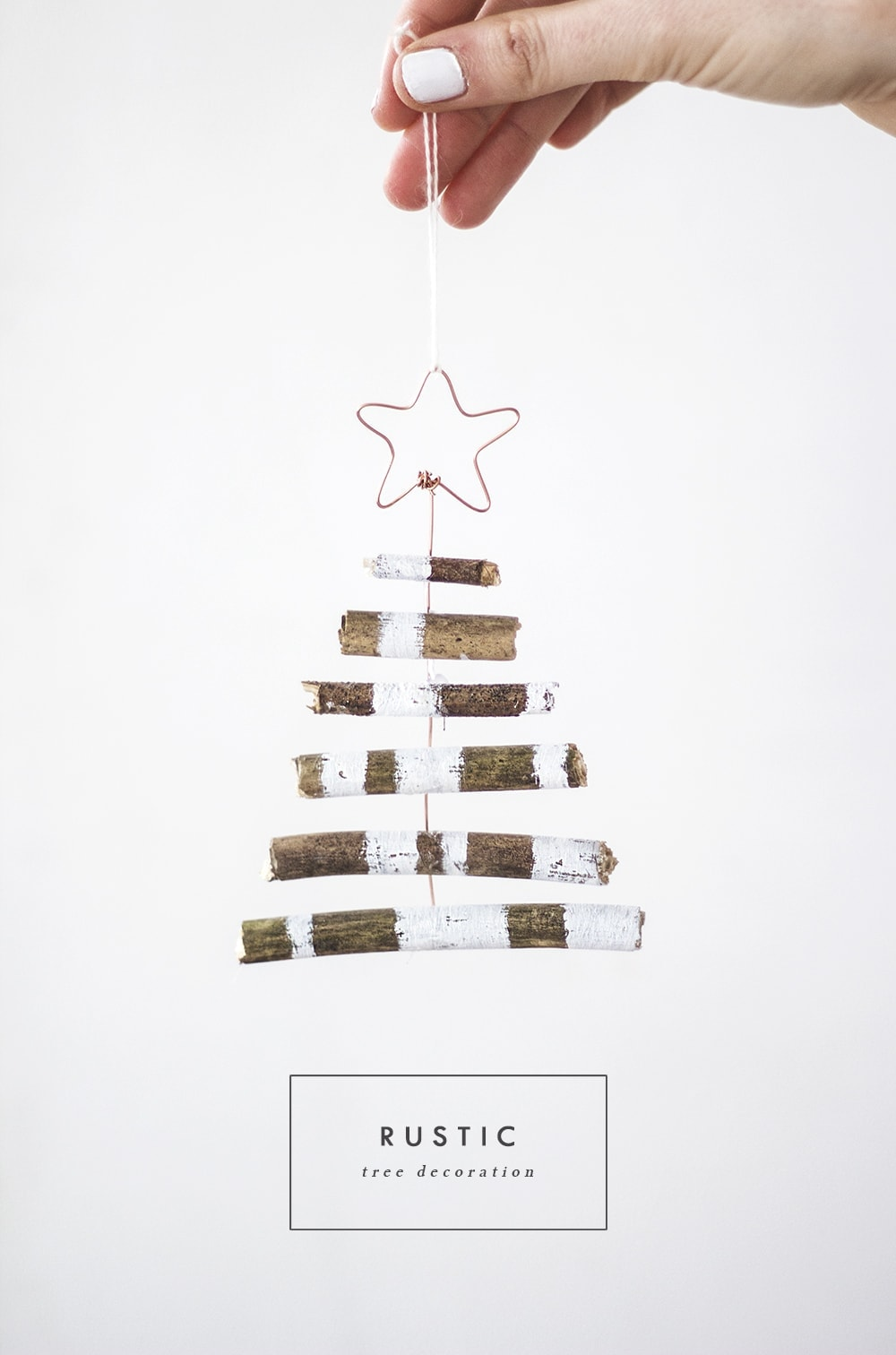 DIY rustic tree decoration 2