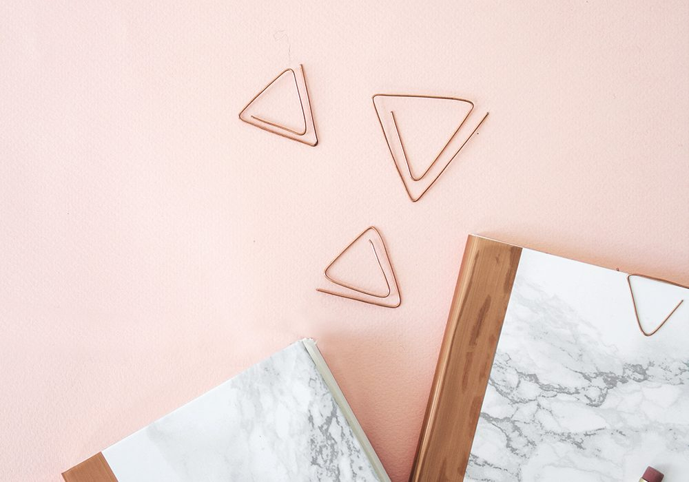 DIY marble and copper stationery 4