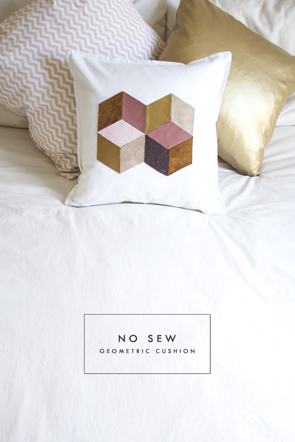 DIY geometric cushion 1
