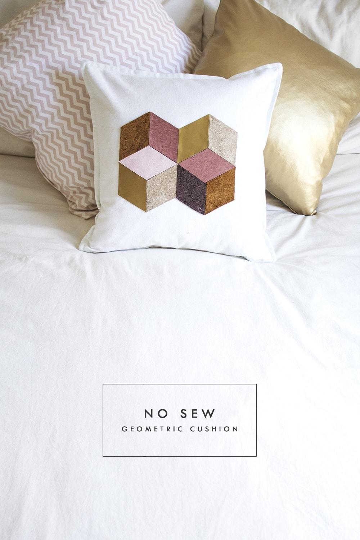 DIY geometric cushion 1
