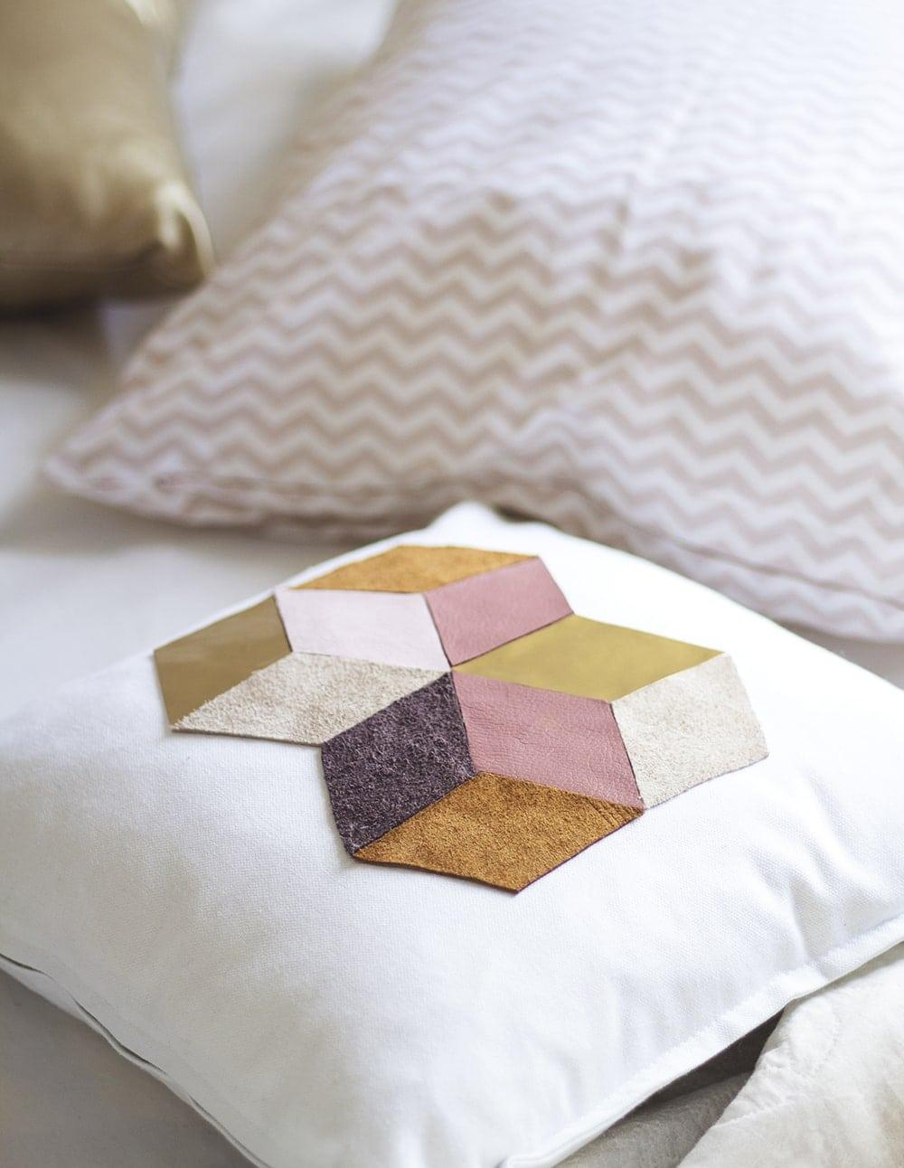 DIY geometric cushion 2