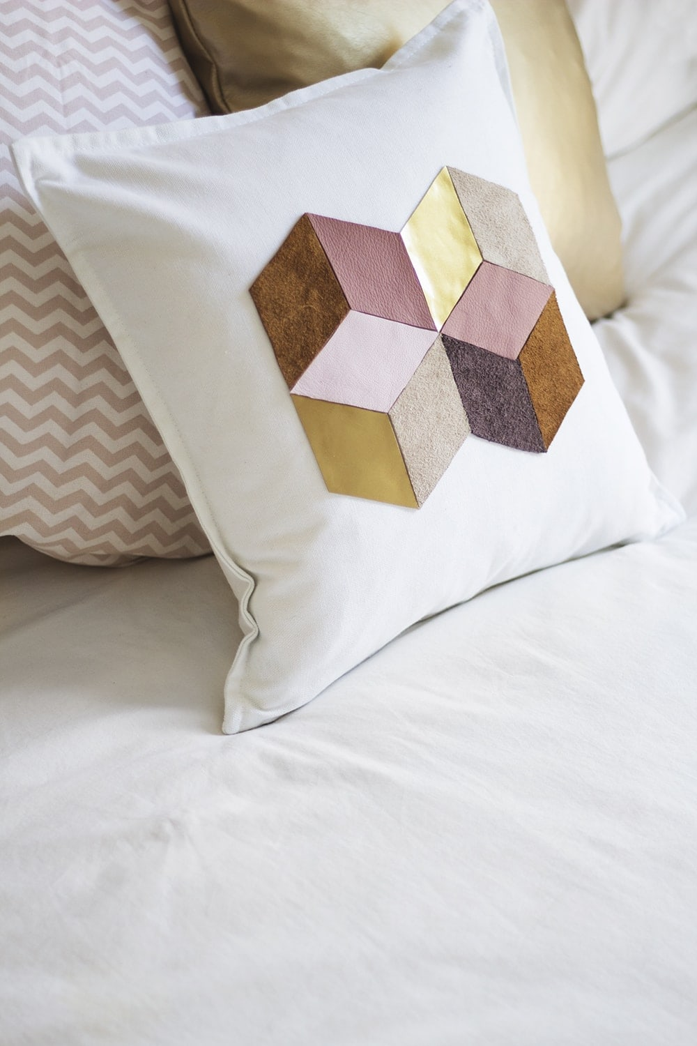 DIY geometric cushion 3