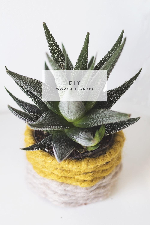 DIY woven planter 1