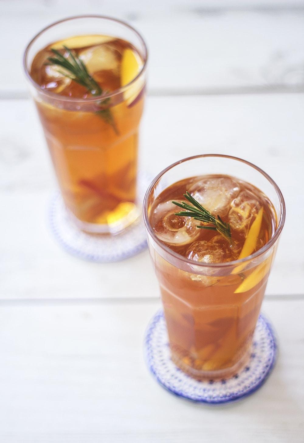 peach lady grey iced tea
