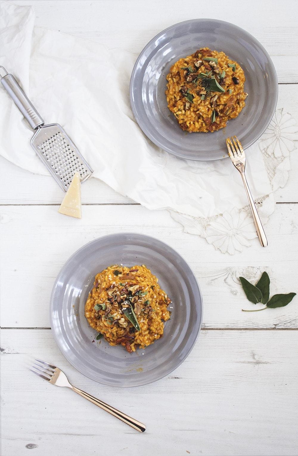 pumpkin chorizo risotto