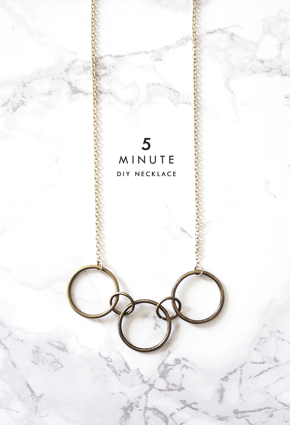 5 minute DIY necklace