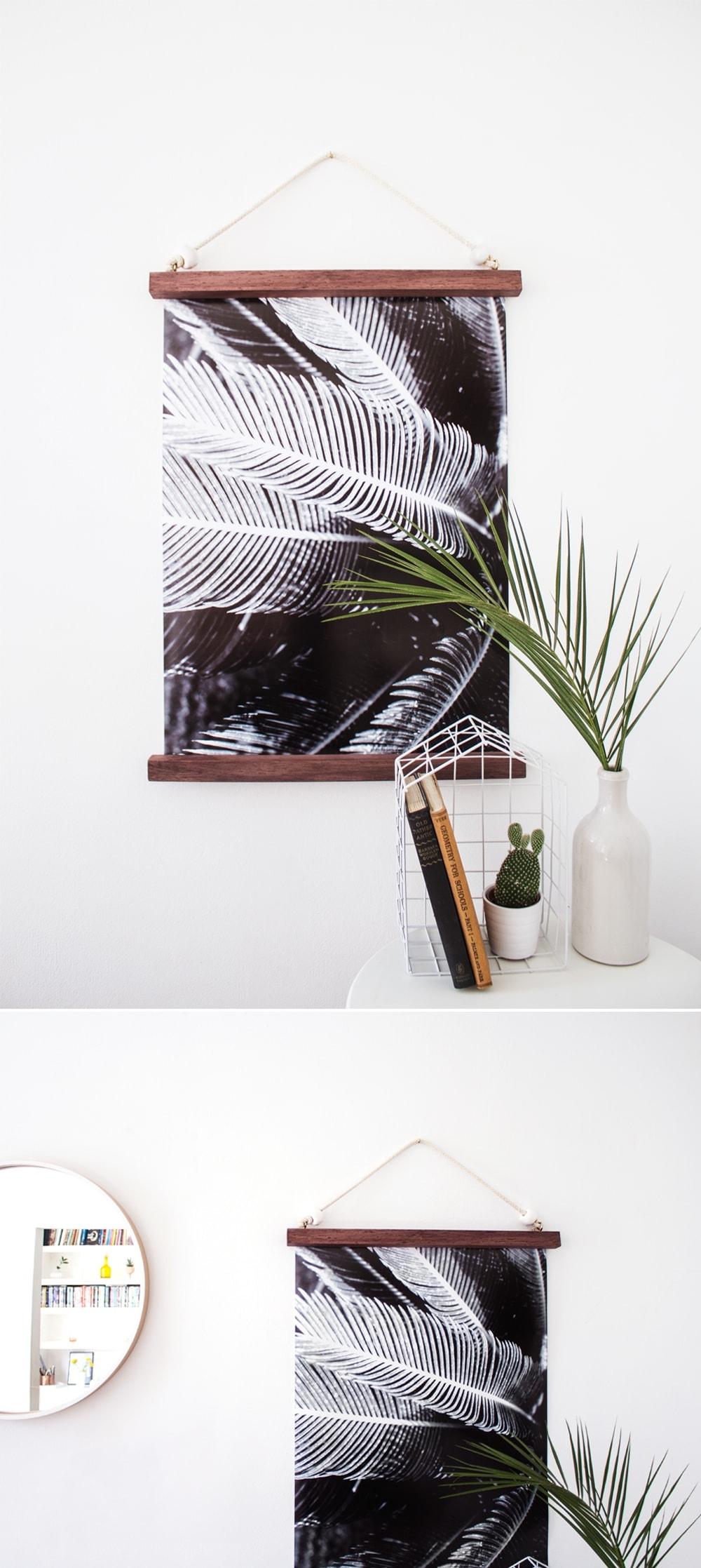 DIY hanging half frame
