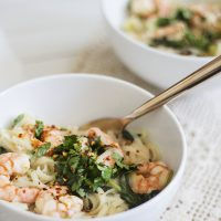 lemon prawn noodles
