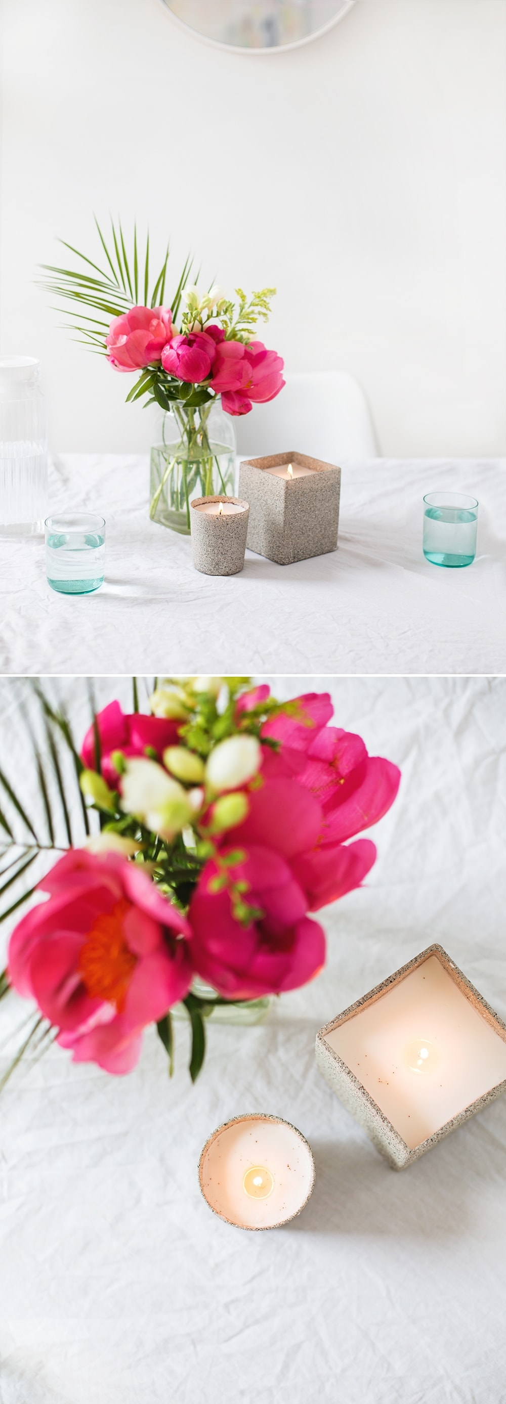 DIY stone scented candle