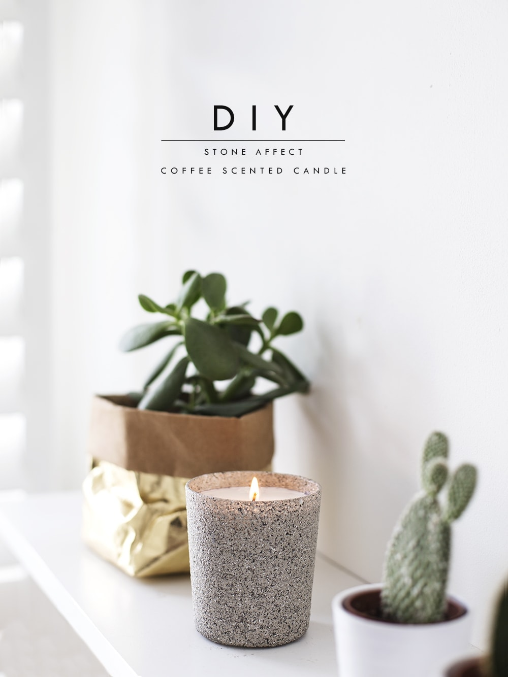 stone candle DIY 1