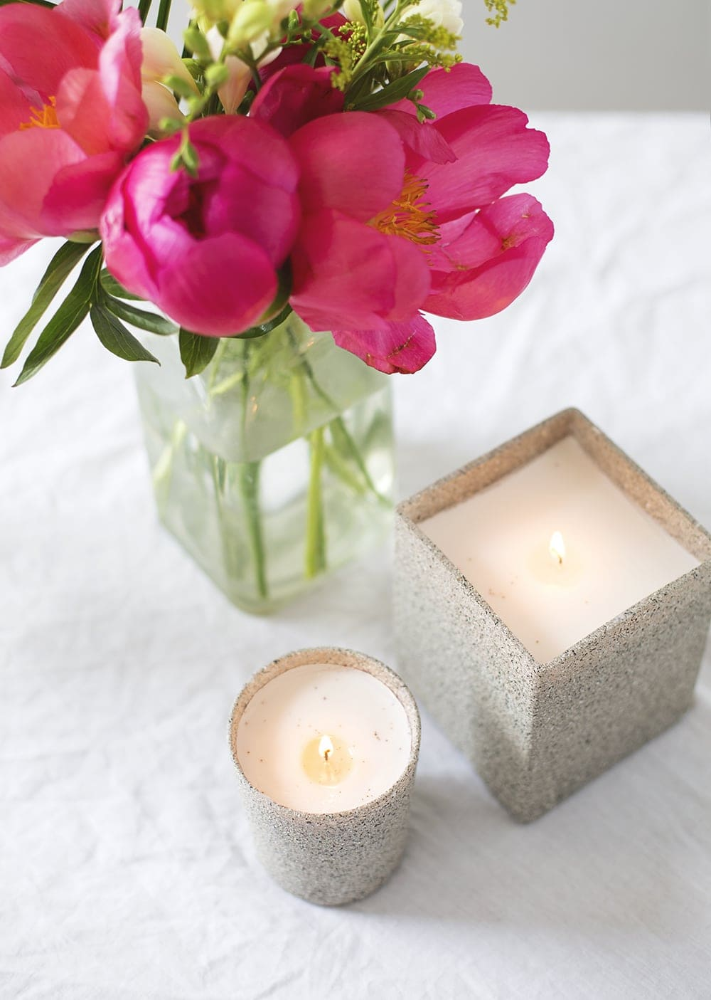 stone candle DIY 2