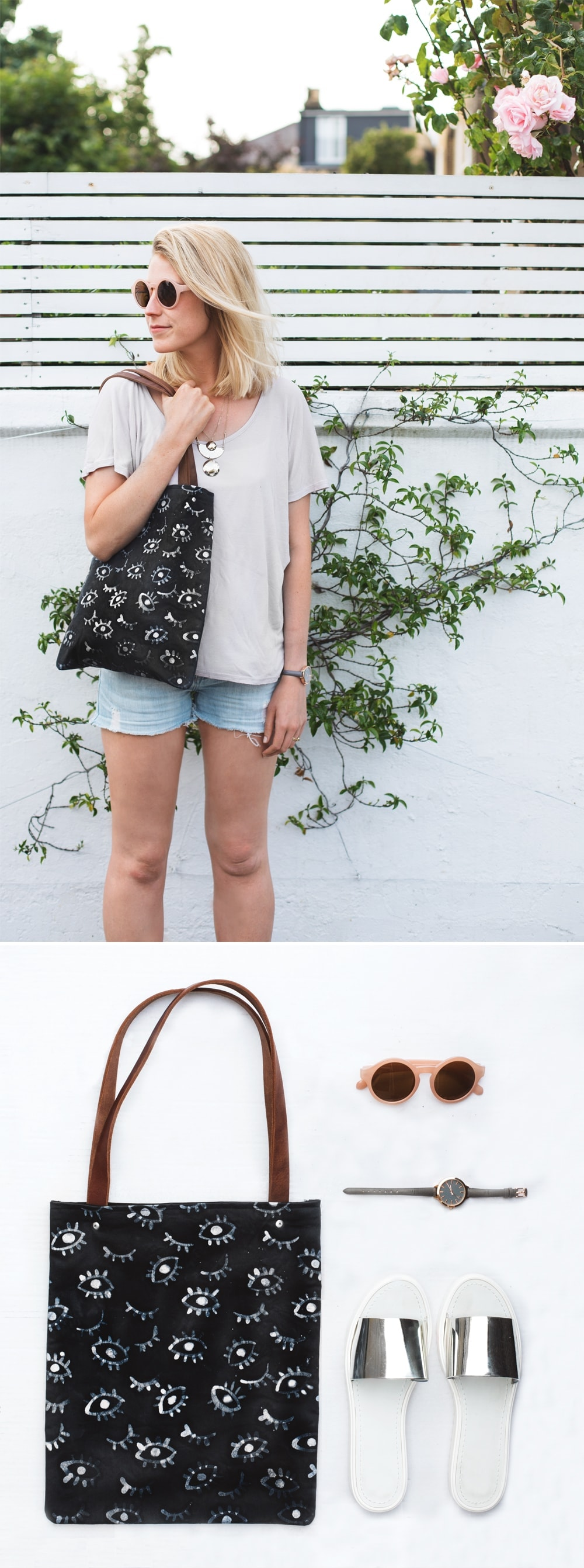 DIY batik summer bag