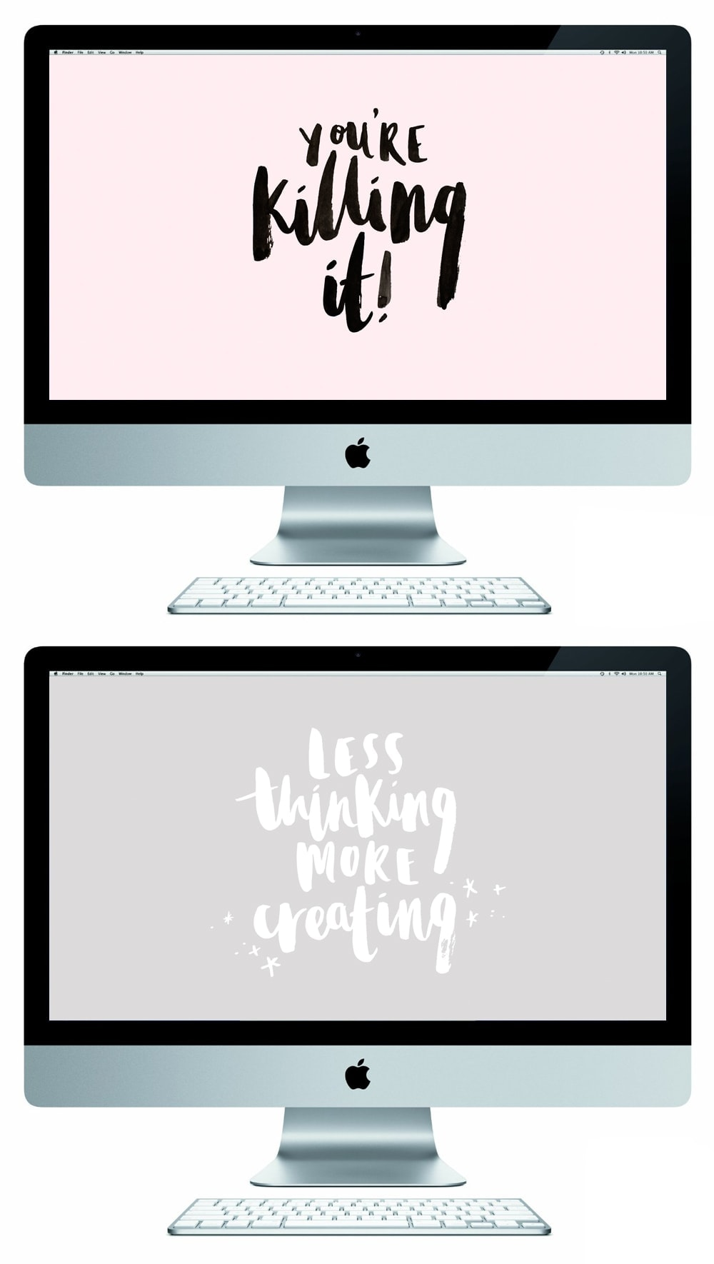 brush lettered free desktop wallpapers