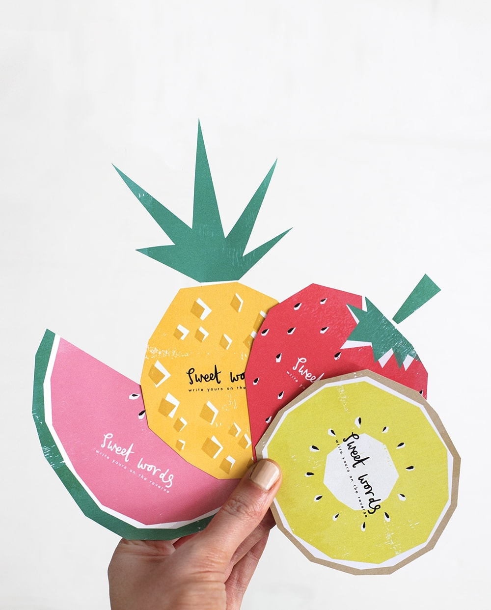 fruit printable notes