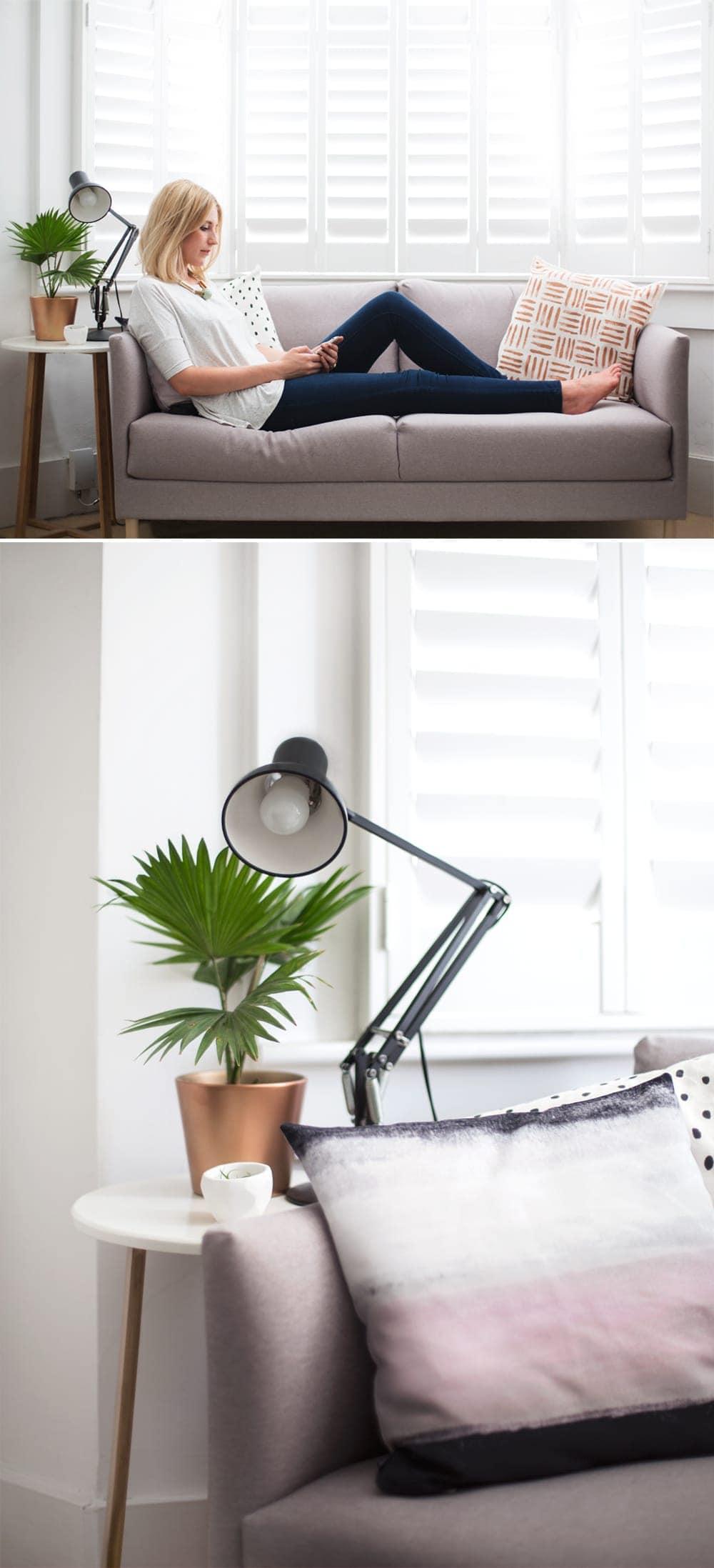 living room corner I Habitat sofa