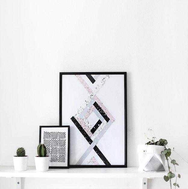 DIY-wall-art-shelfie-the-lovely-drawer-624x629