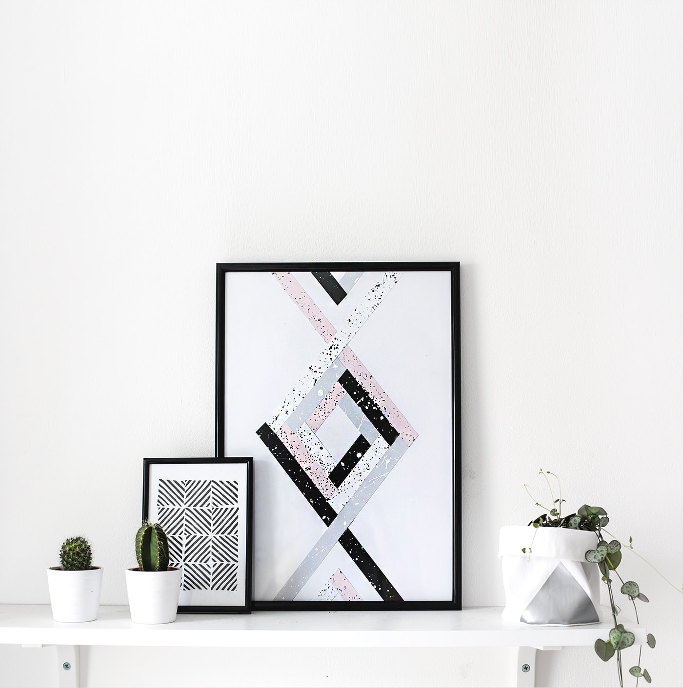 DIY wall art shelfie | the lovely drawer