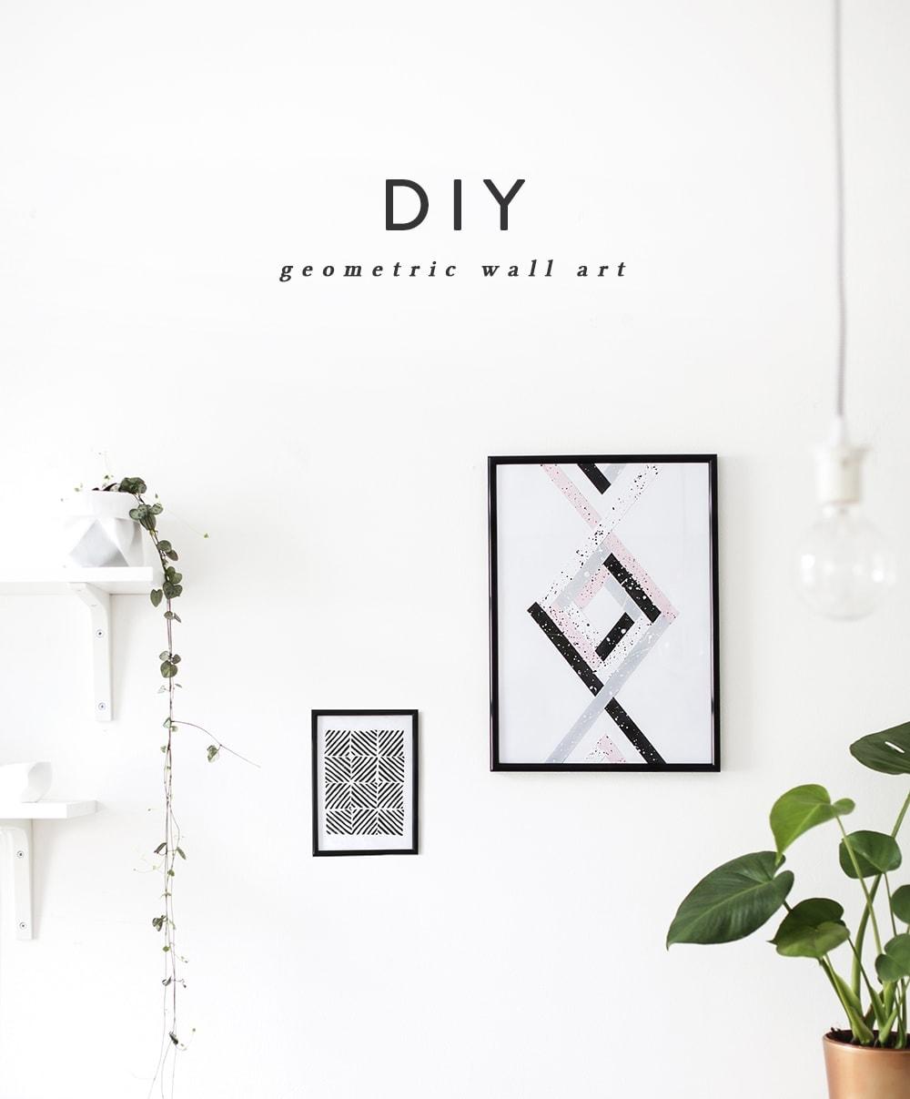 DIY wall art | the lovely drawer