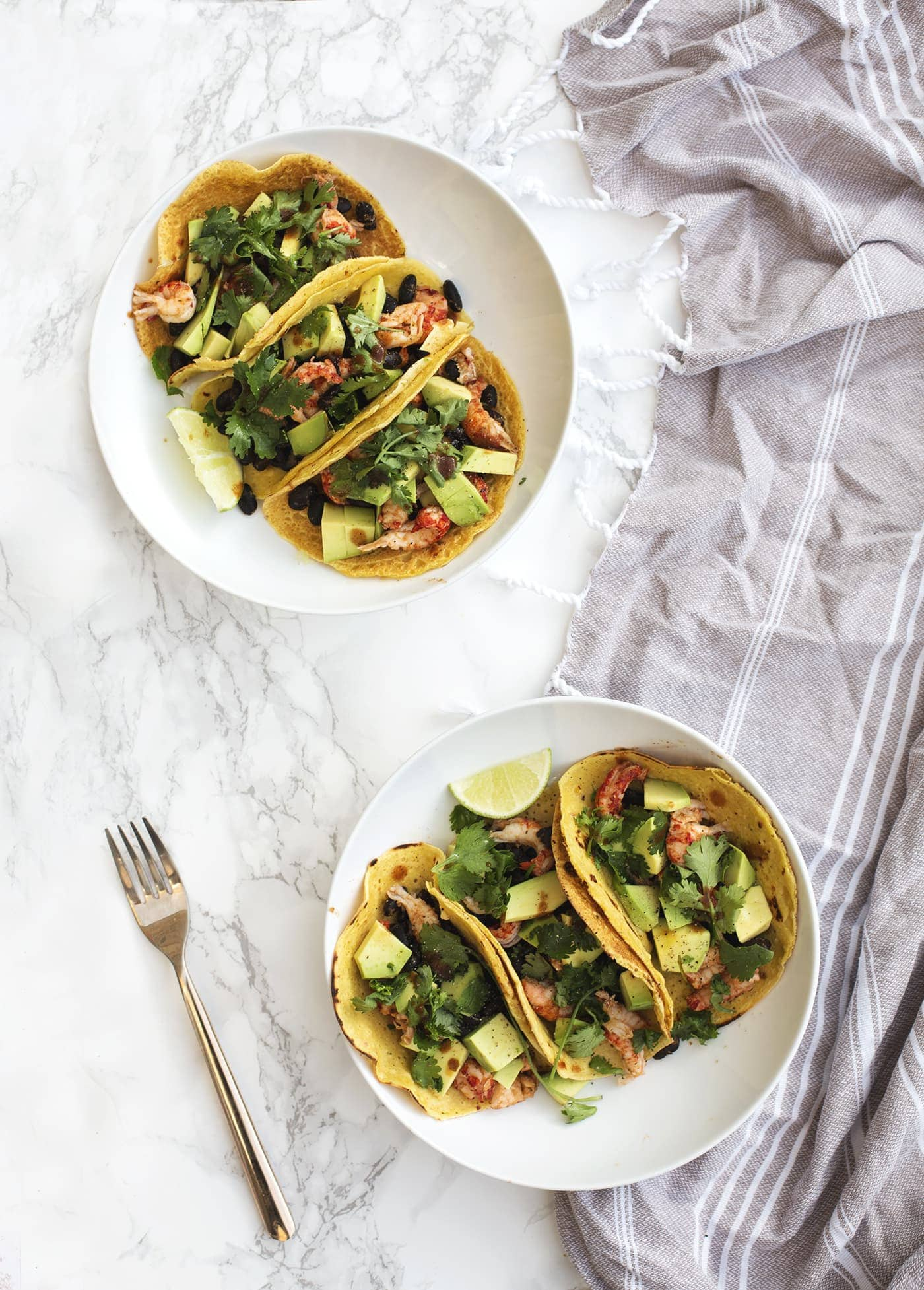 chickpea soft shell tacos | the lovely drawer