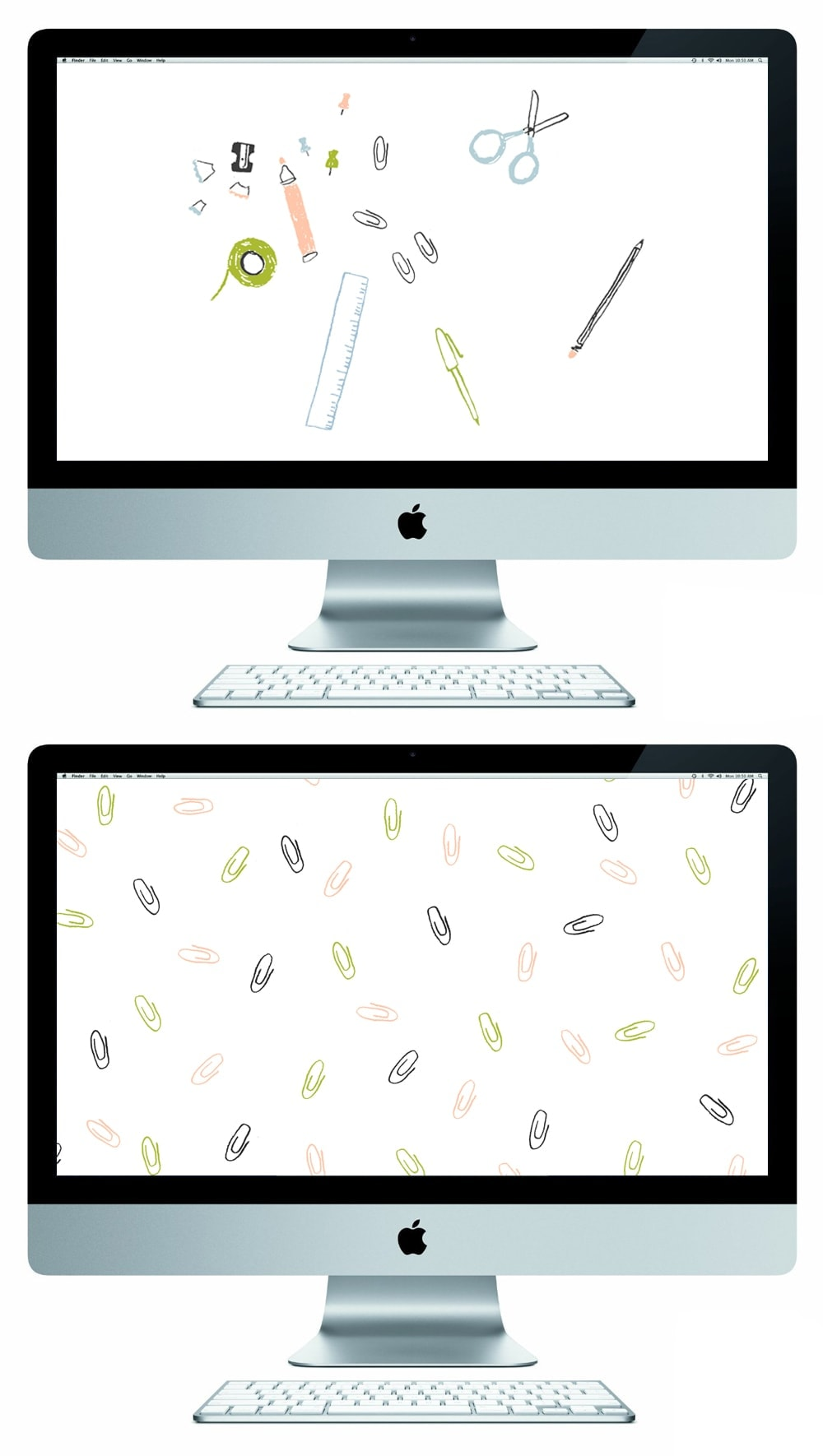 stationery party free desktop wallpapers