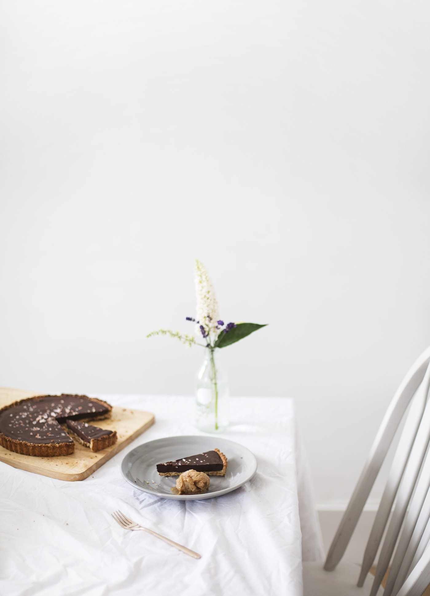 GF vegan healthy chocolate tart