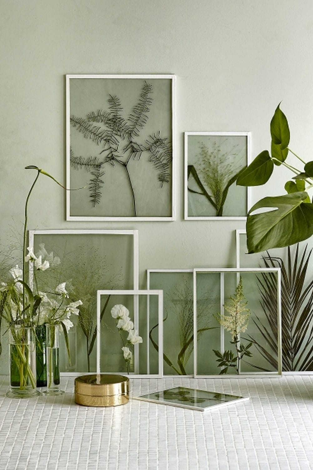 botanical plants wall art | the lovely drawer | interior decor