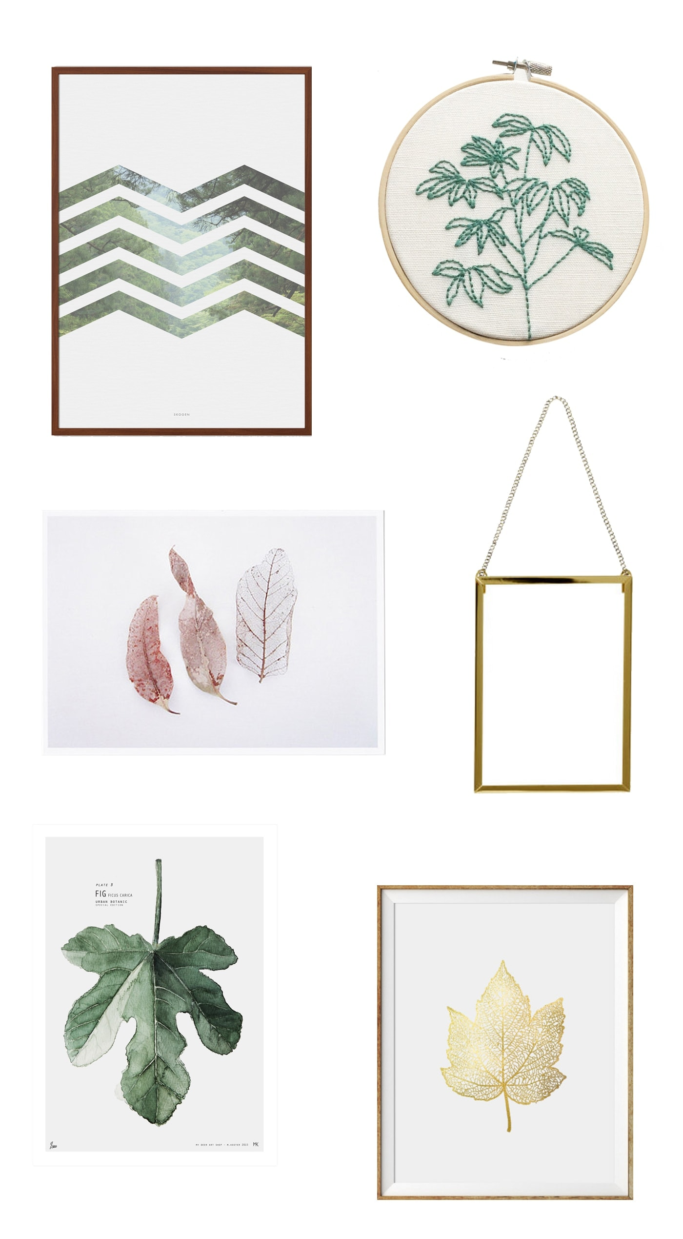 botanical wall art ideas | home decor | interior design | nature | wall art