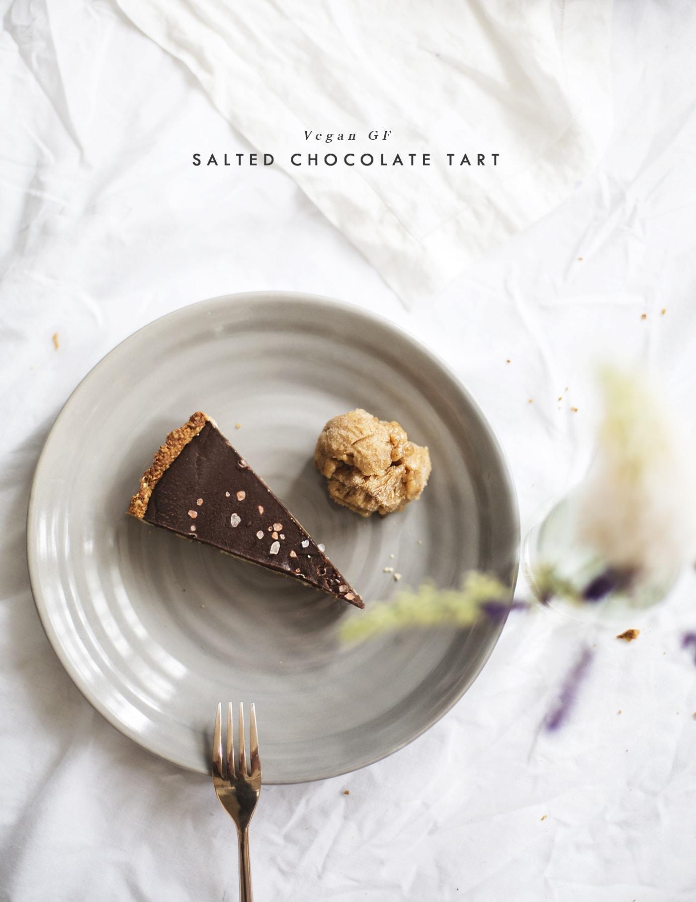 vegan GF chocolate tart recipe