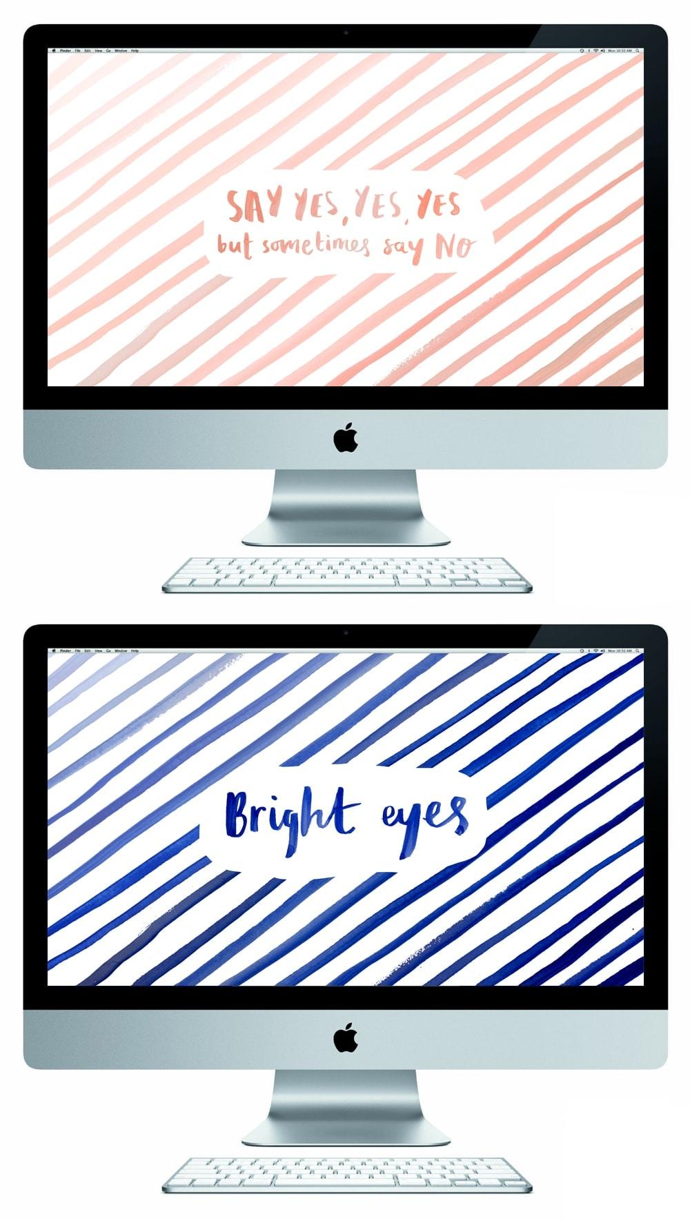 watercolour lettered free desktop wallpapers