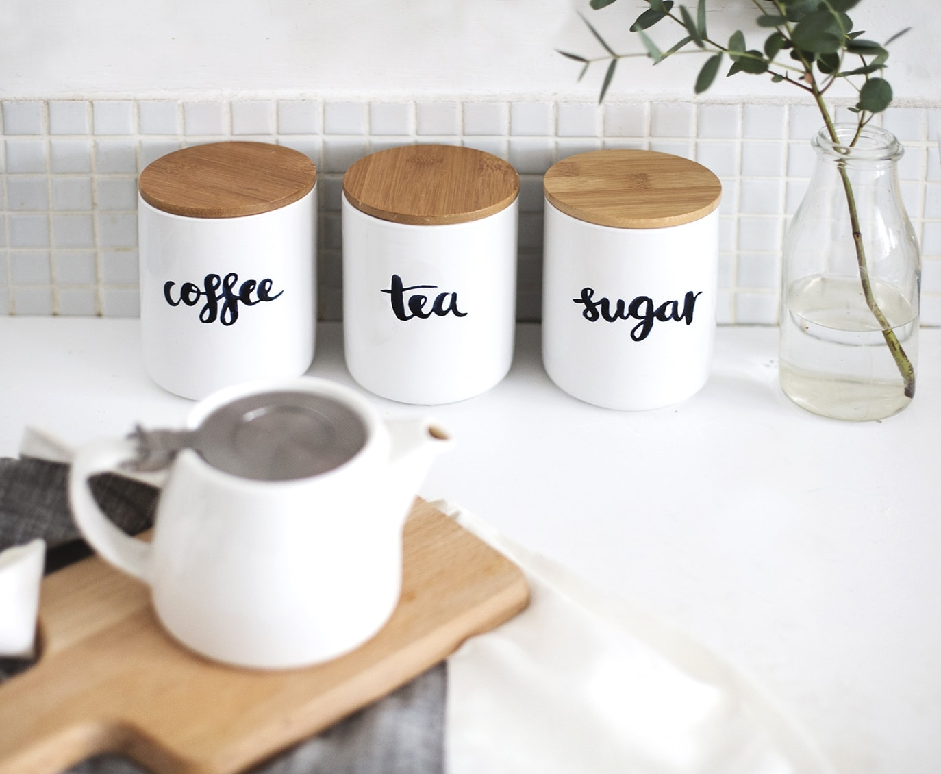DIY brush lettered storage jar tutorial | the lovely drawer