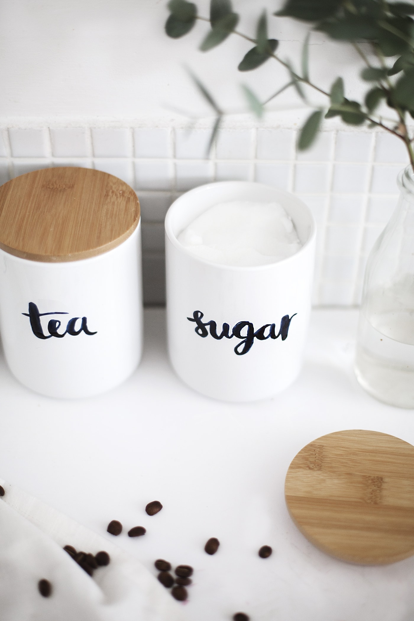 DIY personalised storage jars tutorial| the lovely drawer