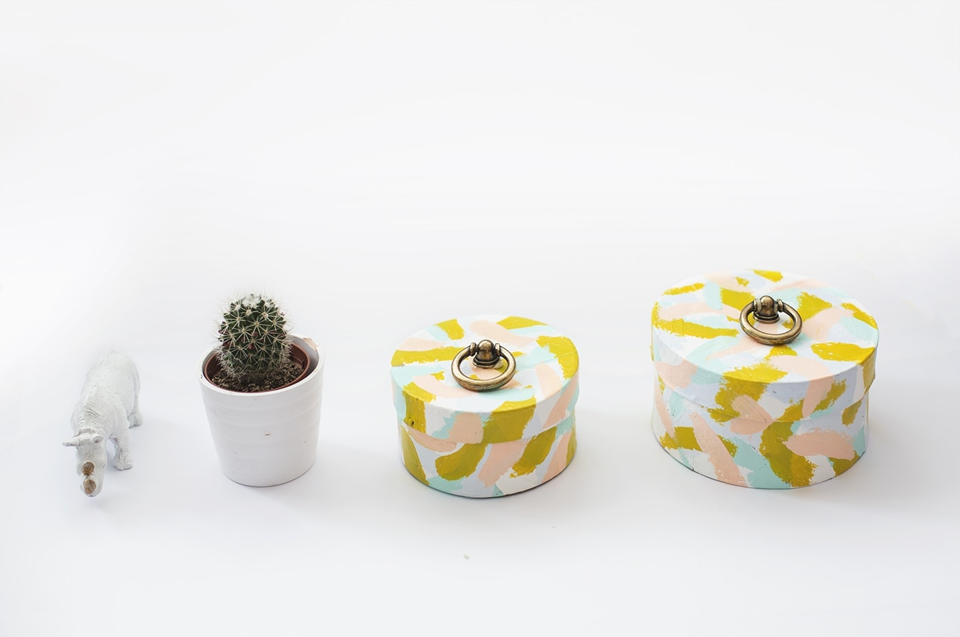DIY ring pull painted boxes   the lovely drawer