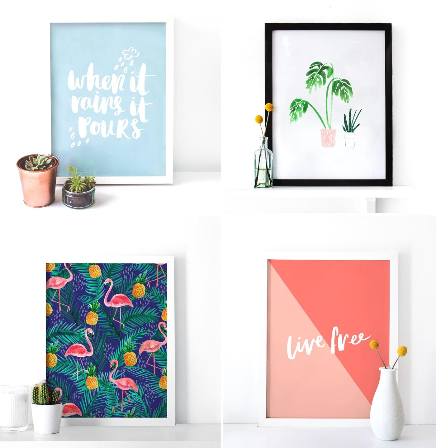 The Lovely Drawer prints | typography | brush lettering | illustration