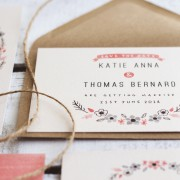 bows and blooms save the date