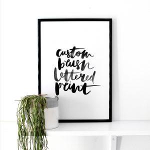 custom-brush-lettered-print